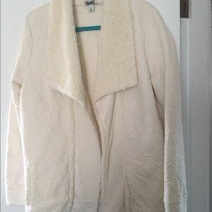 Cream Sherpa Cardigan -LLBean- Medium